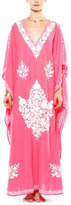 Pas Pour Toi Pink Embellished Kaftan
