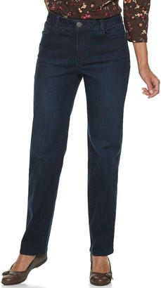 Croft & Barrow Women's Effortless Stretch Straight-Leg Jeans
