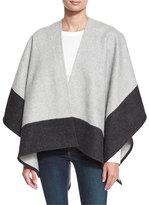 Rag & Bone Double-Face Colorblock Merino Wool Wrap, Gray