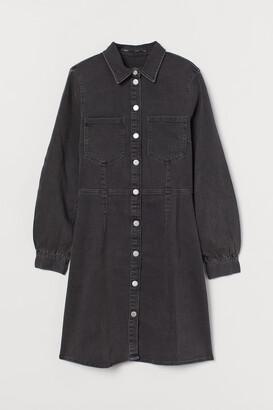 H&M Long-sleeved denim dress