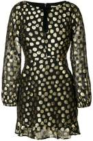 For Love & Lemons metallic polka dot dress