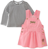 Juicy Couture Pink Jumper & Stripe Tee - Infant & Toddler