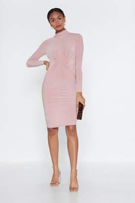 Nasty Gal Womens From What I'Ve Gathered Mock Dress - Beige - 8, Beige