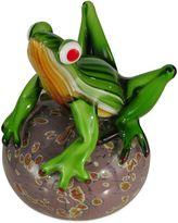 Dale Tiffany Dale TiffanyTM 6.75-Inch Frog on Glass Ball Art Glass Sculpture