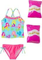 Jump N Splash Toddler Girls' Mermaid Party TwoPiece Swimsuit w/ Free Floaties (2T-3T) - 8143029