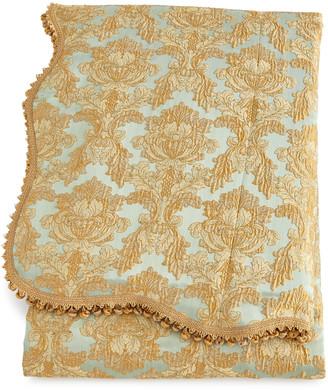 Sweet Dreams Palazzo Como Queen Scalloped Damask Duvet Cover