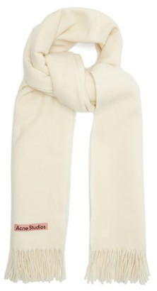 Acne Studios Canada New Fringed Wool Scarf - White