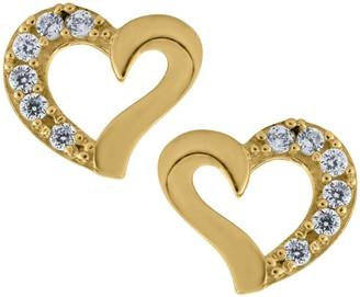 Mignonette 14k Gold Heart Earrings