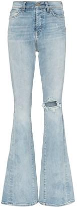 Amiri High-Waist Flared Jeans