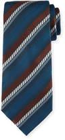 Ermenegildo Zegna Ombre Striped Silk Tie, Brown
