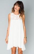 MUMU Eden Babydoll Mini Dress ~ White Cloud