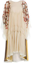 Chloé Chiffon Dress with Multicolored Details
