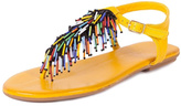 Inuovo Yellow Leather Sandals