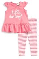 Kate Spade Infant Girl's Hello, Darling Top & Leggings Set