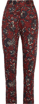 Etoile Isabel Marant Janelle Printed Cotton Tapered Pants - Burgundy