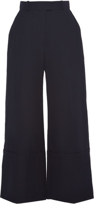 Martin Grant High-Rise Cotton Wide-Leg Pants