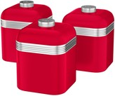 Swan Retro Set of 3 Storage Canisters - Red