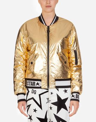 Dolce & Gabbana Bomber Jacket In Lightweight Laminated Nylon