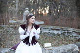 "Etsy Medieval dress and vest ""Found Princess""; italian cotton dress; wedding dress"