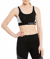 Calvin Klein Color Block Lattice Back Strap Sports Bra