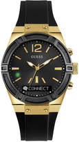 GUESS Women's Analog-Digital Connect Black Silicone Strap Smart Watch 41mm C0002M3