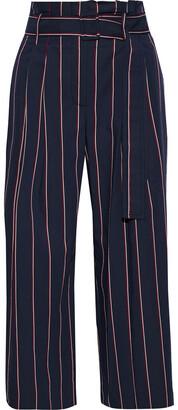 Derek Lam 10 Crosby Cropped Striped Woven Wide-leg Pants