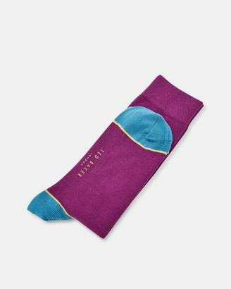 Ted Baker Contrast Trim Cotton Socks