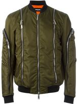 DSQUARED2 zip detail bomber jacket - men - Leather/Polyamide/Polyester/PVC - 48