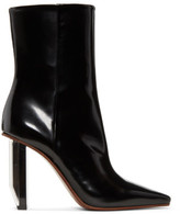 Vetements Black and Silver Reflector Heel Boots