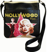 Monroe Women's Marilyn Forever Beautiful Hollywood Siren Messenger Bag