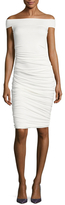 Bailey 44 Off Shoulder Ruched Sheath Dress