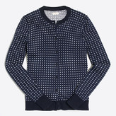 J.Crew Factory Dotted Caryn cardigan sweater