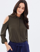 Dorothy Perkins Cold-Shoulder Top Shirt