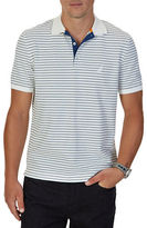 Nautica Short Sleeve Striped Cotton Polo