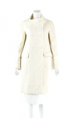 Max Mara Ecru Cotton Trench Coat for Women