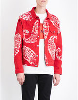 424 Paisley denim trucker jacket
