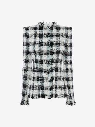 Alexander McQueen Boucle Tweed Jacket