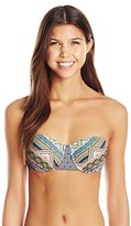 Bikini Lab Women's Let It De-Co Underwire Bandeau Top