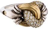 Lagos Two-Tone Diamond Ring