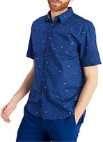 Joules Lloyd Bird Print Short Sleeve Shirt, Bluebird