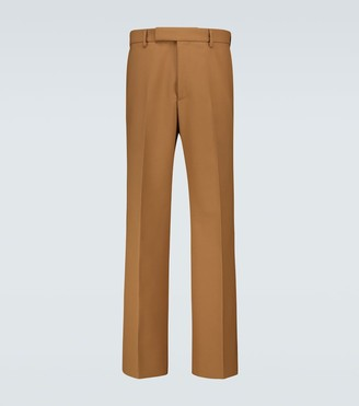 Gucci Wool-blend single-pleated pants
