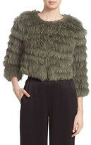 Alice + Olivia 'Fawn' Genuine Rabbit & Fox Fur Jacket