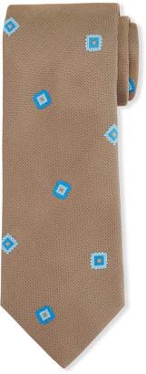 Brioni Men's Fancy Boxes Silk Tie