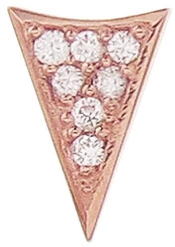 Sydney Evan Single Diamond Triangle Stud Earring - Rose Gold