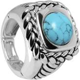 Body Candy Light Blue Woven Rope Stretch Ring