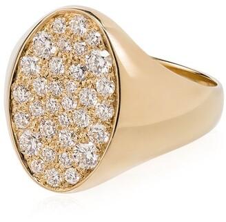 Dru 14K yellow gold Galaxy diamond signet ring