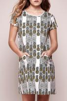 Yumi Pineapple Shift Dress
