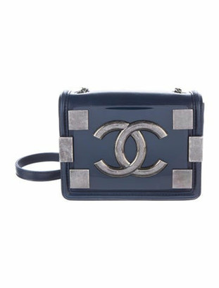 Chanel Boy Brick Flap Bag Navy