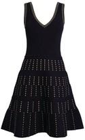 Sandro Paris Knitted V-Neck Dress