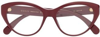 Gucci Logo Cat-Eye Sunglasses